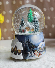 custom snow globe musical resin