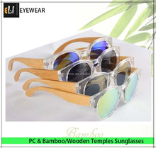 new trendy factory wood bamboo temples plastic frame polarized lens sunglasses