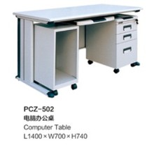 Cheap Office Computer Workstation/office desk with Moving CPU Stand and File Storage
