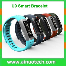 U9 fashion Sport Bracelet Watch android bluetooth watch For iPhone 6 5S for Samsung Phone