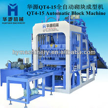 HYM high competitive HY-QT4-15 Hydraulic Automatic Block Making Machine to product the clay hollow bricks