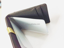 Custom money clip PU leather with gold metal, card holders
