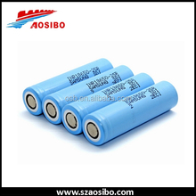 Electronic cigarette high drain battery Samsung18650 25r battery max 20A li battery wholesale
