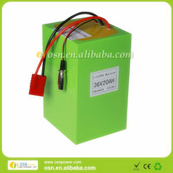 A123 LiFePO4 36v 20ah battery pack-12S1P for 1000W electric vehicle