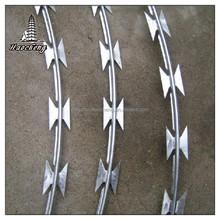 Galvanized steel razor barbed wire fencing low price