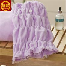logo microfiber towel for hair clean, hair turban towel