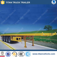 16 wheeler 60 tons 4 axles 42ft semi flat bed trailer for sale