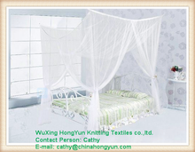Chinese factory supply 100% polyester 4 corner post Bed White Canopy Mosquito Net All Sizes Netting