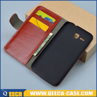 Cheap price flip leather phone case for huawei y600