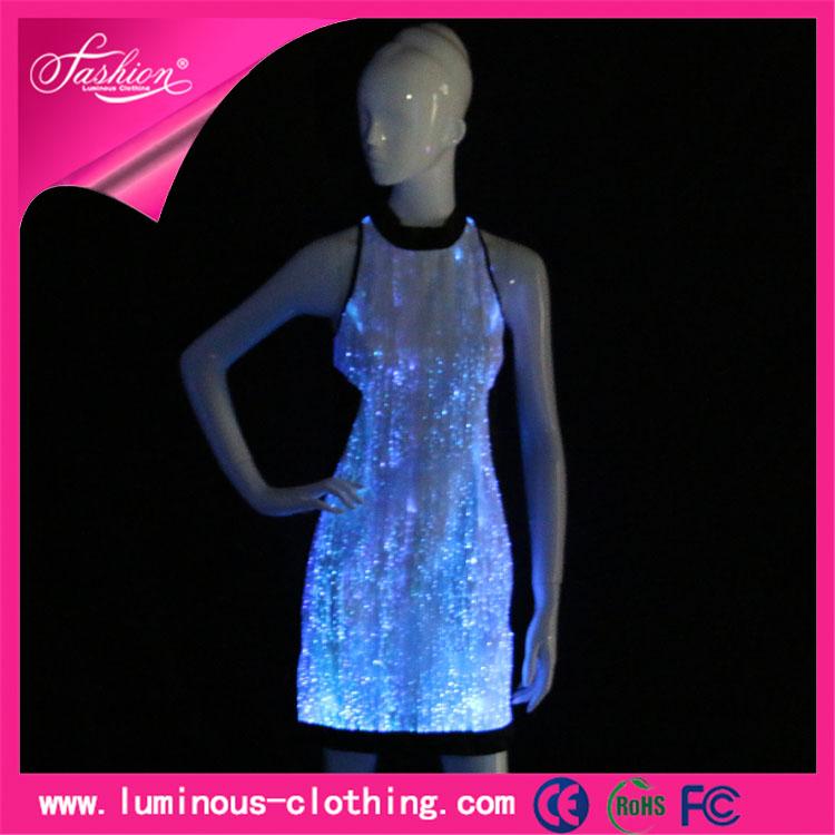 Últimas luminoso liderado moda new girls short <span class=keywords><strong>vestidos</strong></span> vestido de diseño 2015