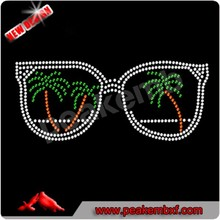 Beautiful Summer Sunglasses iron on rhinestone transfers