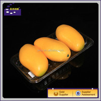 custom PP/PET/BOPS white clear transparent food box tray packaging for fruit and vegetables display case