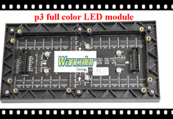 china wholesale price indoor full color p3 led video display RGB color p3 LED screen module 192*96mm 64*32 dots