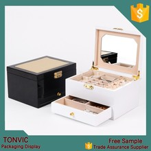 High quality luxury wood box case for fashion jewelry set display