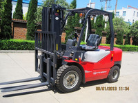 YTO manufacturers 3ton diesel mechanical fork lift CPC30 to reduce the cost