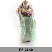 2015 hot selling fashionable pashmina scarf for young lady