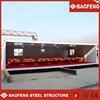 modular galvanized 40ft 3 axle container truck box trailer
