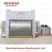 Shandong Senmao 500T detachable frame 15 layers hot press machine /Furniture melamine paper hot press