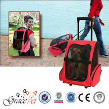 [Grace Pet] Rolling Backpack Travel Pet Carrier for Cats, Dogs, and Rabbits
