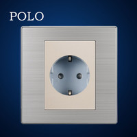 electrical PC material socket champagne wall socket 16A german type socket