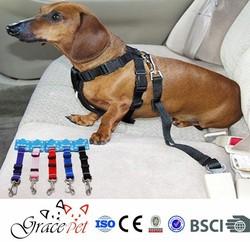 [Grace Pet] Dog Seatbelt Harness with Adjustable Car Seat Belt Clip