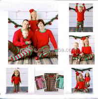 2015 Adorable!wholesale christmas pajamas for baby girls family/adult christmas pajamas
