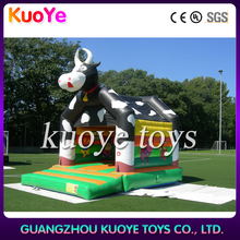 cow inflatable bouncing trampoline,jumping castle amazing inflatables,0.55mm pvc animal bouncer toys
