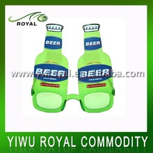 Crazy Party Rave Cheap Funny Plastic Beer Sunglasses