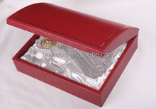wholesale pu leather Handmade Vintage wine carrier 2014 new Luxury wooden wine box