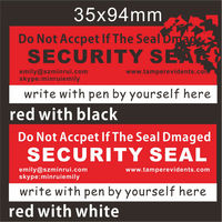 Writable Security Break Away Warranty Seal Stickers,Red Open VOID Stickers,Do Not Open If Seal Damaged Security Eggshell Labels