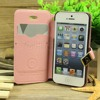 Wholesale hot selling mobile phone accessory for iphone 5 luxury card slot stand leather case