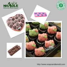 nicole B0039 silicone hearts molds tray for biscuit valentine's day gift cheap silicone molds for chocolate chocolate molds tray