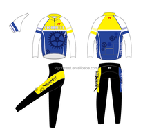 New Custom Team bicycle cycling jerseys long sleeve cycling wear with coolmax fabric