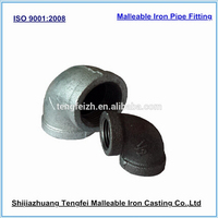 Material stanard ISO 5922,ASTM A197 90 degree elbow silicon rubber hose