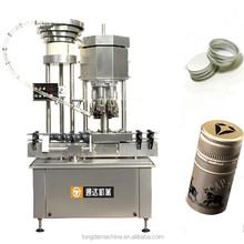 China supplier bottle capper 4 head machine, ROPP cap screw sealing machinery