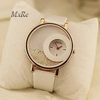 2015 new brand MxRe women time fashion leather straps ladies clock round shpe dial shock resistant female quartz wrist Watches