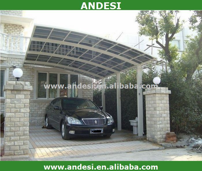 Aluminum single slope carport canopy sun shed buy for Single slope carport
