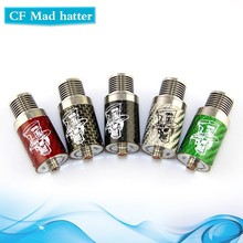 2015 Quad posts CF mad hatter rda 1:1 clone with fan hot selling in USA VS Turbo rda
