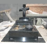 Cross Headstone Granite Memorials with Flower Bed SMT01