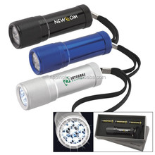 Aluminium 9 led flashlight torch
