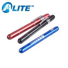 Alite top quality promotional pencil flashlight pen with clip