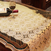 Embroidery flower table cover 50cm PVC roll vinyl table cloth