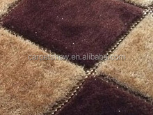 3d handmade striped carpets and rugs,1200D silk polyester shaggy carpet