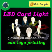 Novelty mini pocket led card light greeting card led light portable pocket led card light lamp