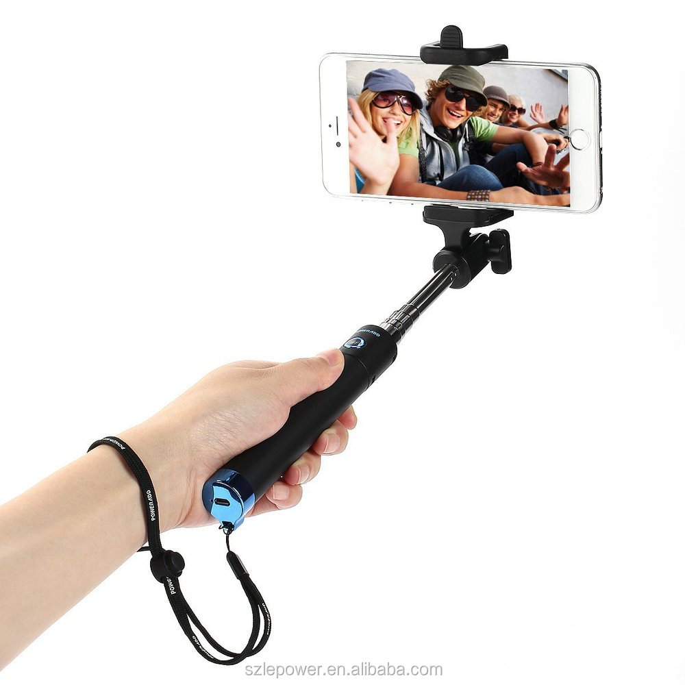 2015 selfie stick extendable monopod selfie stick with shutter bluetooth for. Black Bedroom Furniture Sets. Home Design Ideas