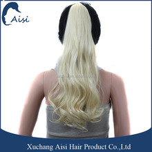 Platinum Blonde Synthetic Hair Extension Claw Clip Ponytail Japan Heat Resistant Fiber Ponytail for Woman