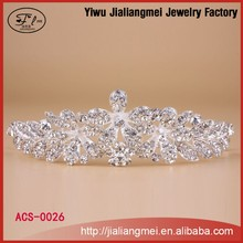 Flower shape wholesale beauty pageant crowns and tiaras