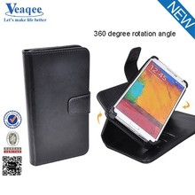Veaqee newest design black pu leather case for sumsung galaxy note4