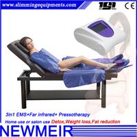 3in1 Presoterapia massage suit ems far infrared hotsale air pressure massager