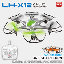 High Quality Toys LH-X12 2.4G 4CH 6 Axis Gyro Hover Flying RC Drone with Auto Return Quad Copter Drone en Kit